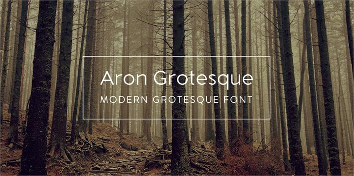 Aron Grotesque font by Monofonts