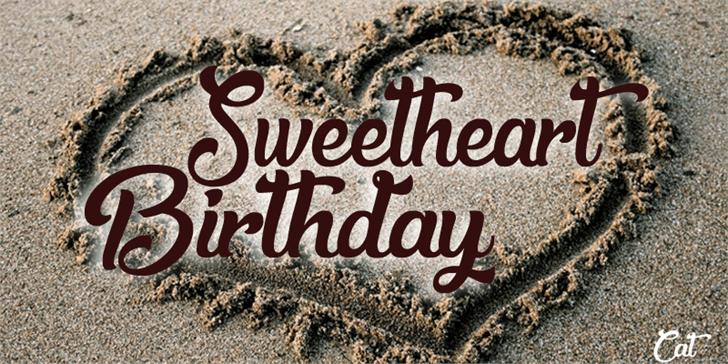 Sweetheart Birthday font by Foundmyfont Studio Typeface LTD