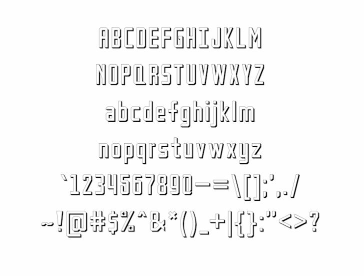 Petak Square Shadow font by alisaptamarza