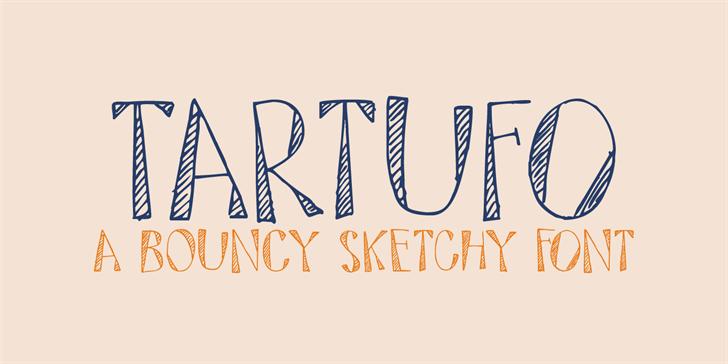 DK Tartufo font by David Kerkhoff