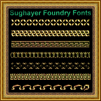 Vintage Borders_016 font by Sughayer Foundry