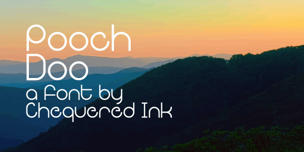 Pooch Doo font by Chequered Ink