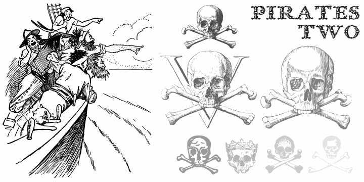Pirates Two font by Intellecta Design