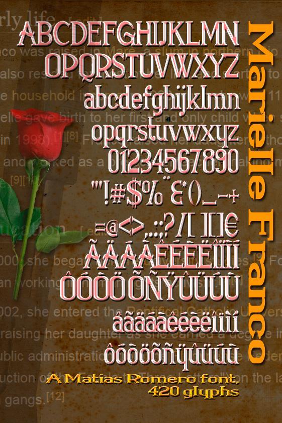Marielle Franco font by Matias Romero