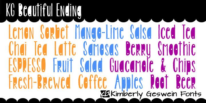 KG Beautiful Ending font by Kimberly Geswein