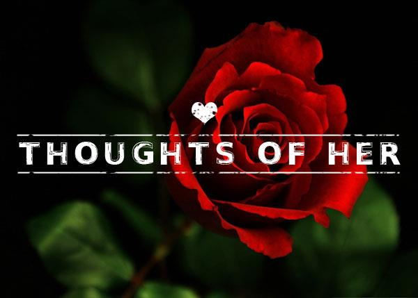 Thoughts of Her font by Chris Vile