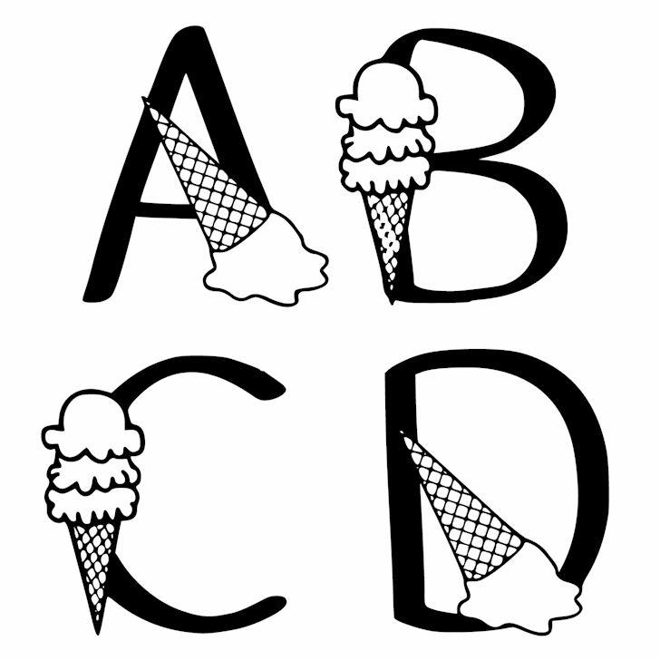 Ks Ice Cream Party font by Pretty Little Line Designs