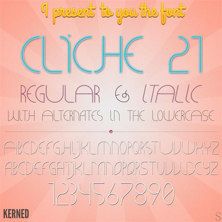 CLiCHE 21 font by Paulo R