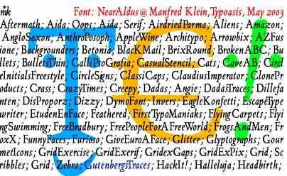 NearAldus font by Manfred Klein