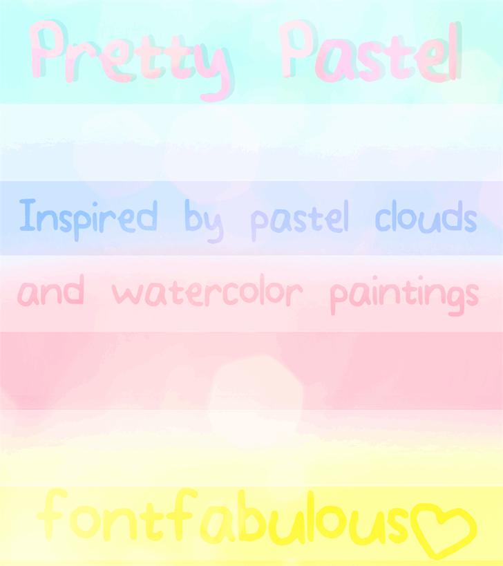 Pretty_Pastel font by fluffybanana101