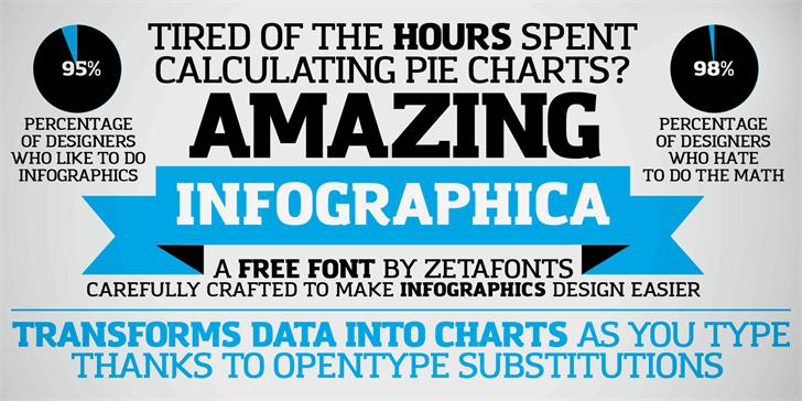 Amazing Infographic@ font by Zetafonts