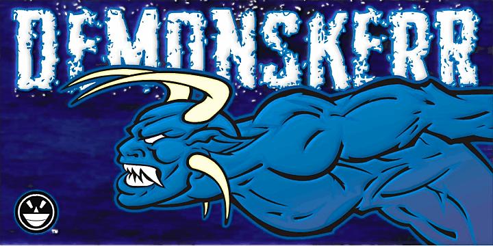 Demon Sker font by the Fontry