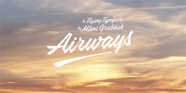 Airways PERSONAL USE ONLY font by Måns Grebäck