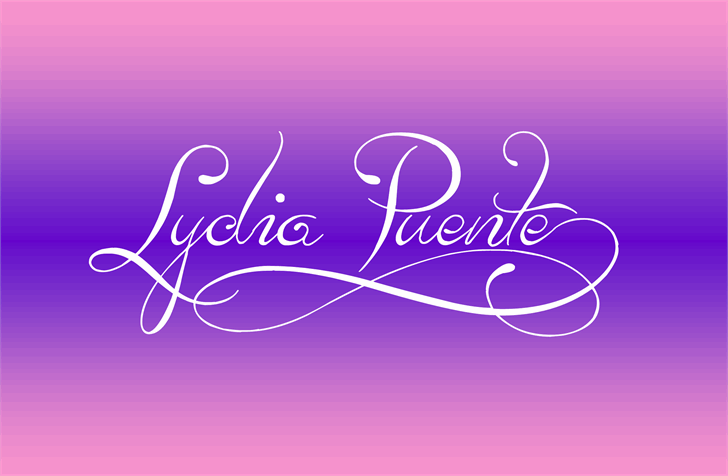 Lydia Puente) font by Jonathan S. Harris