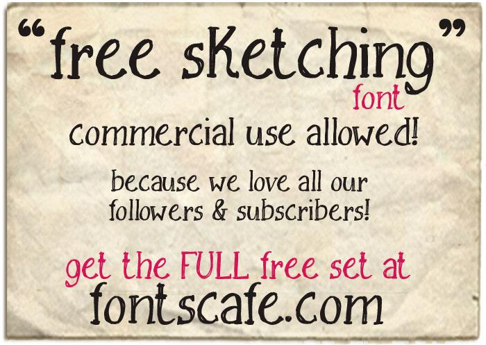Free Sketching_free-demo font by FontsCafe