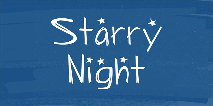 Starry Night font by Lauren Ashpole