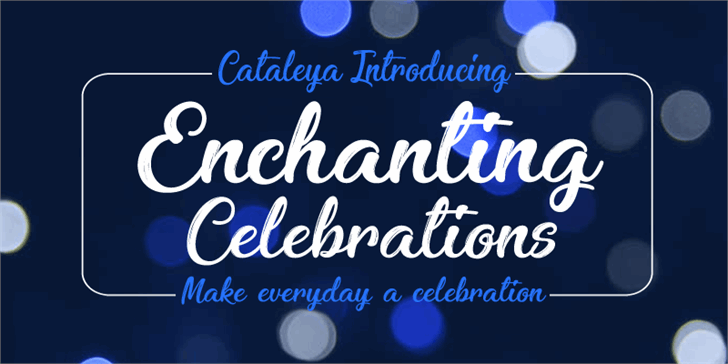 Enchanting Celebrations font by Foundmyfont Studio Typeface LTD