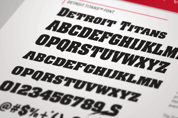 NCAA Detroit Titans font by The Sports Fonts