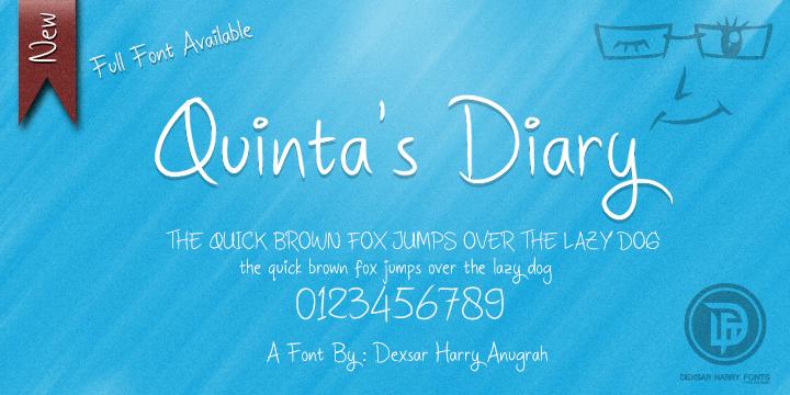 DHF Quinta's Diary font by Dexsar Harry Anugrah