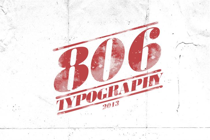806 Typography font by LeoSupply.co