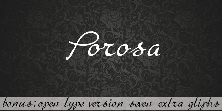 Porosa font by Intellecta Design