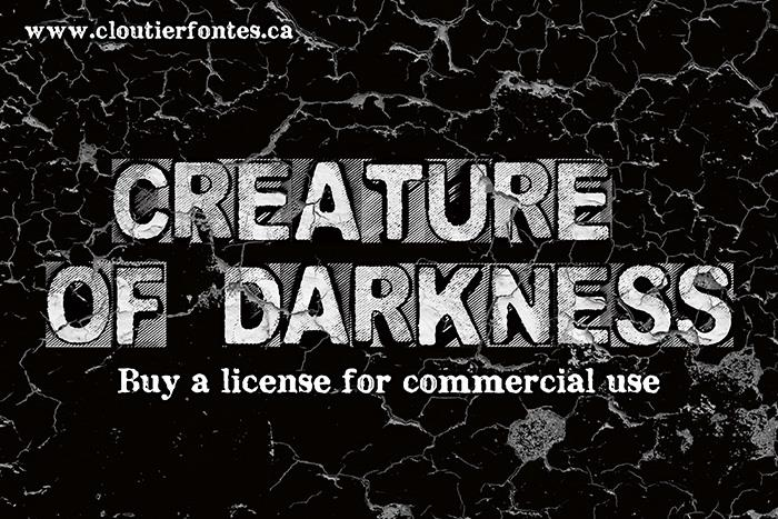 CF Creature of Darkness font by CloutierFontes