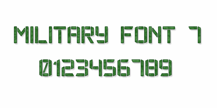 Military Font 7 font by Style-7
