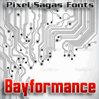 Bayformance font by Pixel Sagas