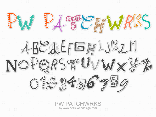 PWPatchwrks font by Peax Webdesign