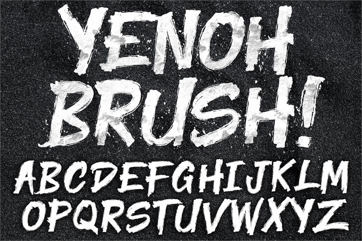 Yenoh Brush font by knackpackstudio