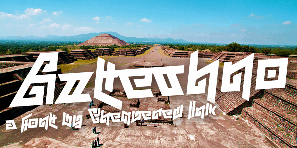 Aztechno font by Chequered Ink
