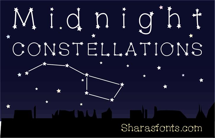 MidnightConstellations font by Shara Weber