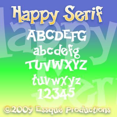 Happy Serif font by Essqué Productions