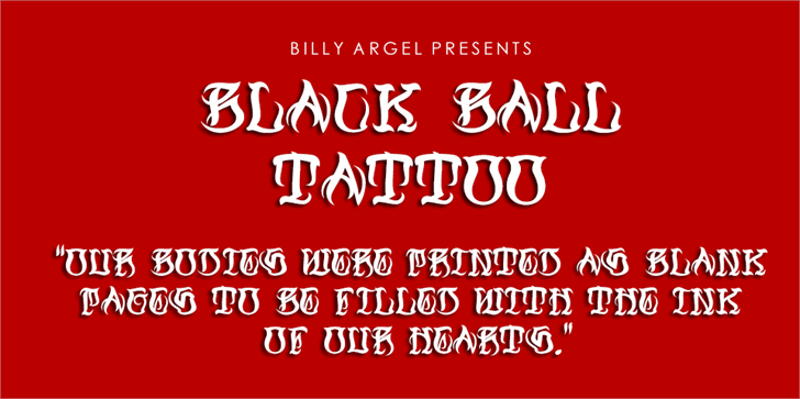 Black Ball Tattoo Personal Use font by Billy Argel
