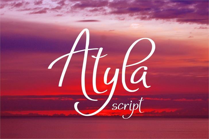 Atyla font by Eva Barabasne Olasz
