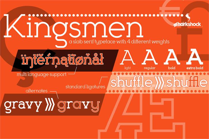 Kingsmen font by sharkshock