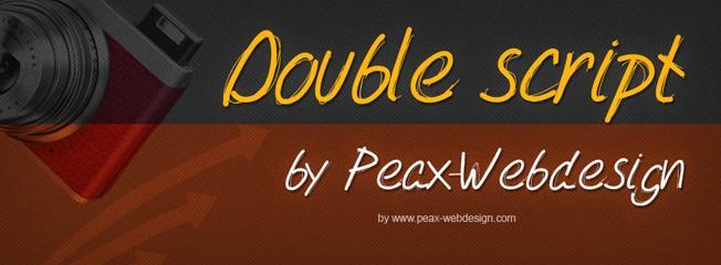 PWDoubleScript font by Peax Webdesign