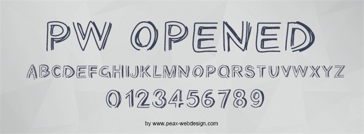 PWOpened font by Peax Webdesign