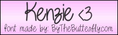 Kenzie font by ByTheButterfly