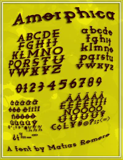 Amorphica font by Matias Romero