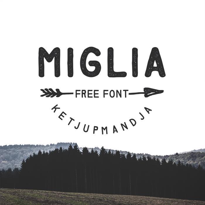 Miglia font by ketjupmandja