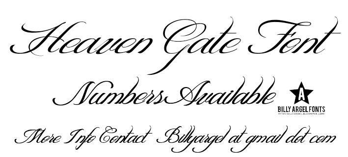 HEAVEN GATE font by Billy Argel