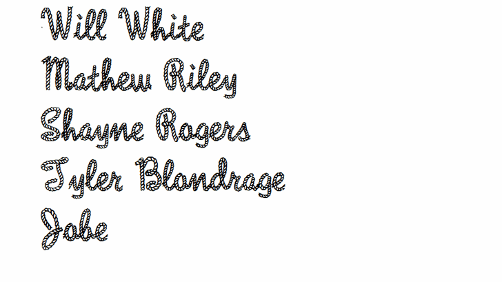 Rope MF font by Rick Mueller