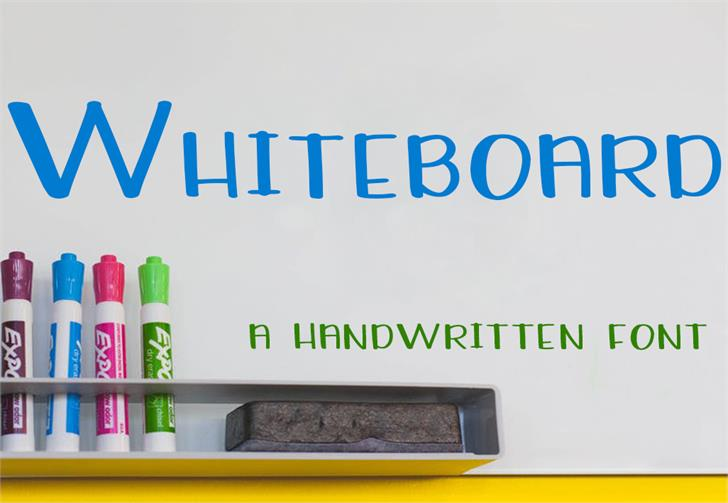 Whiteboard font by GroovyJournal