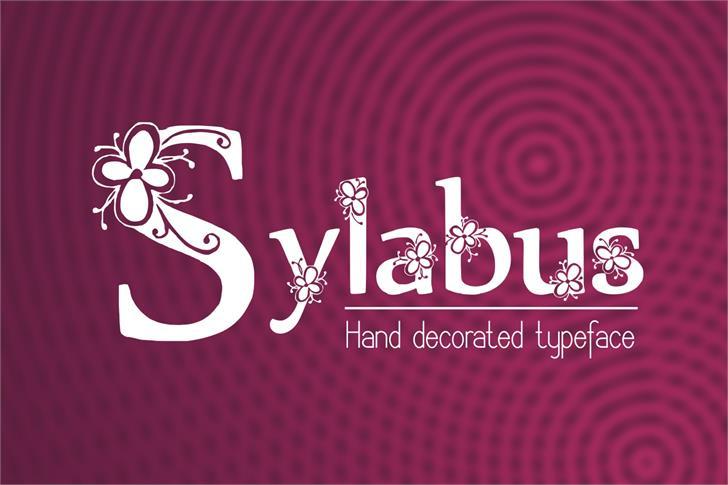 Sylabus font by Eva Barabasne Olasz