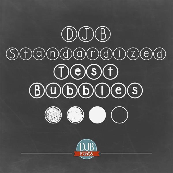 DJB Standardized Test font by Darcy Baldwin Fonts