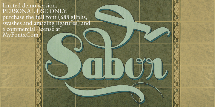 Sabor Limited Free Version font by Intellecta Design