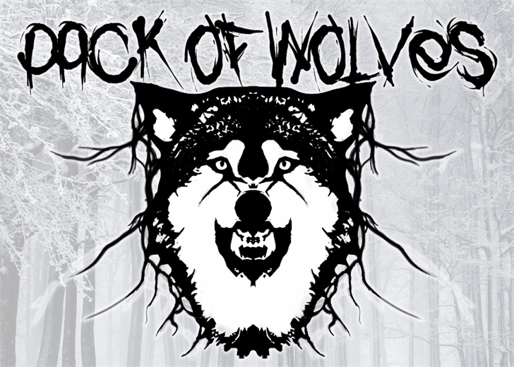 Pack of Wolves font by Font Monger