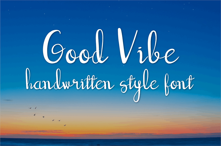 good vibe font by wonoayu79