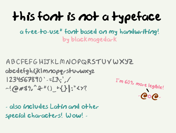 this font is not a typeface font by blackmagedark